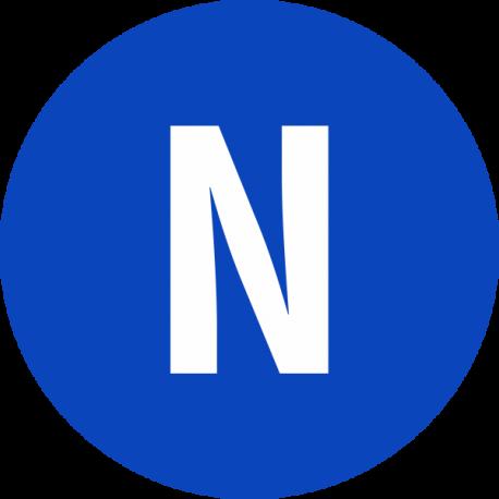 """""""Neutraal geleider"""" stickers"""