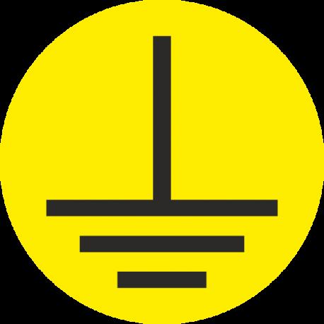 """""""Aarde geleider"""" (geel) stickers"""