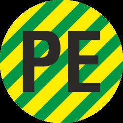 """""""Aardingskabel PE"""" stickers"""