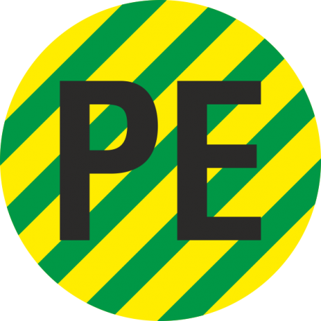 """Aardingskabel PE"" stickers"