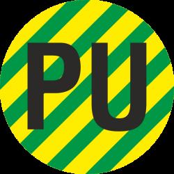 """""""Aardingskabel PU"""" stickers"""