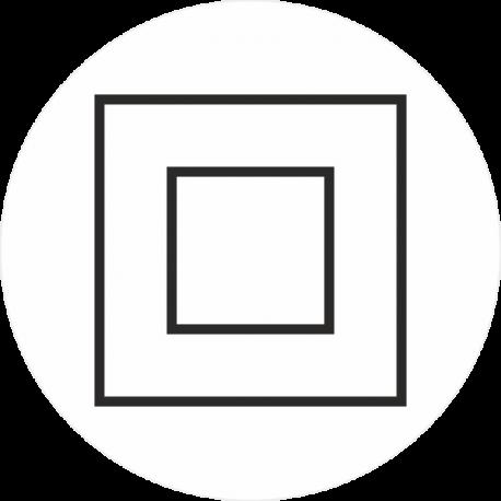 """""""Elektrische veiligheidsklasse 2"""" (wit) stickers"""