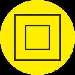 """""""Elektrische veiligheidsklasse 2"""" (geel) stickers"""