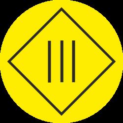 """""""Elektrische veiligheidsklasse 3"""" (geel) stickers"""
