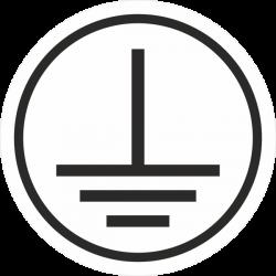 """""""Elektrische veiligheidsklasse 1"""" (wit) stickers"""