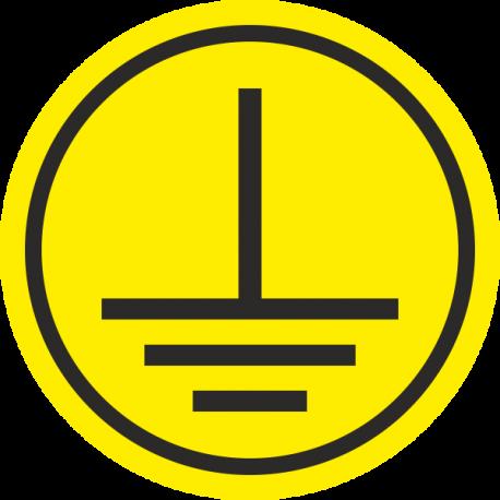 """""""Elektrische veiligheidsklasse 1"""" (geel) stickers"""