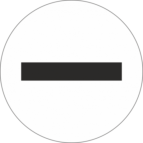 """Min symbool"" (wit) stickers"