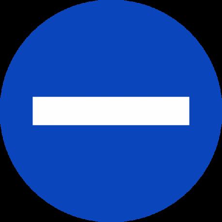"""""""Min symbool"""" (blauw) stickers"""