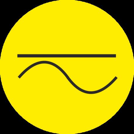 """""""Gelijk- en wisselstroom"""" (geel) stickers"""