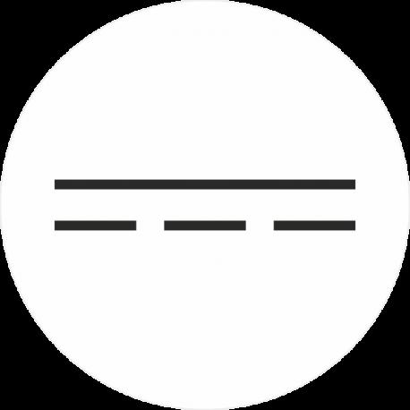 """""""Gelijkstroom"""" (wit) stickers"""