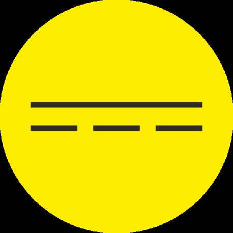 """""""Gelijkstroom"""" (geel) stickers"""