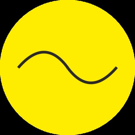 """""""Wisselstroom"""" (geel) stickers"""