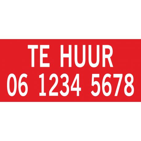 Te huur stickers met telefoonnummer