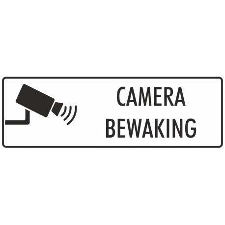 Camera bewaking stickers (wit)