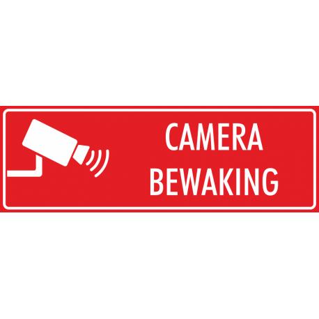 Camera bewaking stickers (rood)
