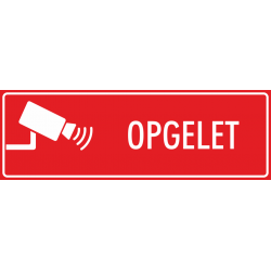 Camera opgelet stickers (rood)