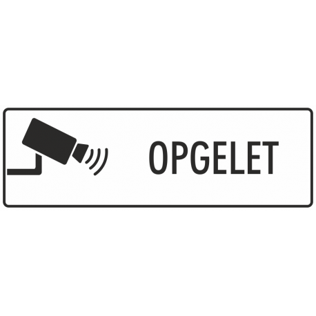 Camera opgelet stickers (wit)