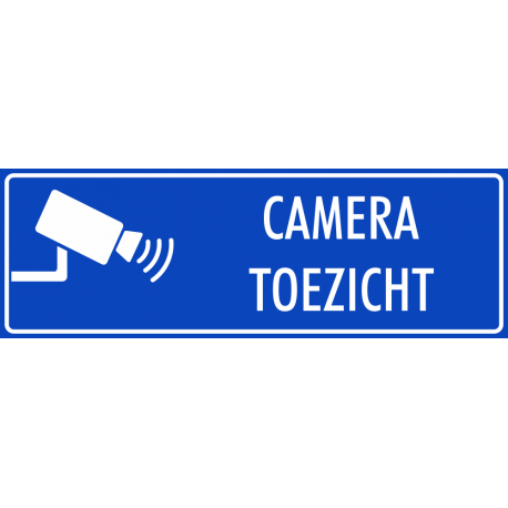 Camera toezicht stickers (blauw)
