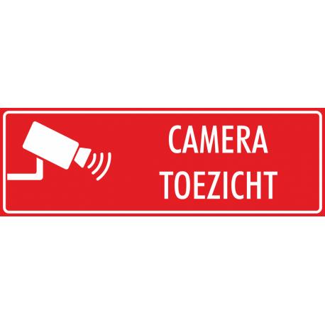 Camera toezicht stickers (rood)