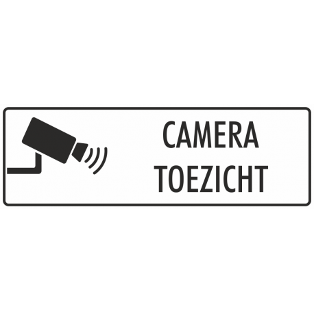 Camera toezicht stickers (wit)