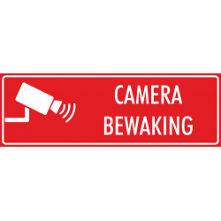 Camera bewaking bordjes (rood)