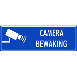 Camera bewaking bordjes (blauw)