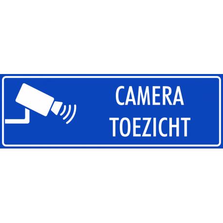 Camera toezicht bordjes (blauw)