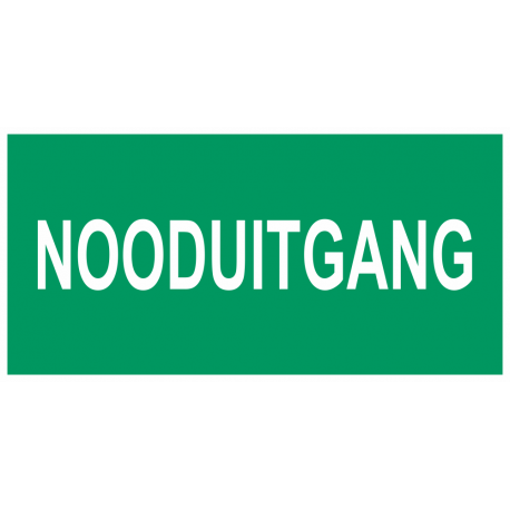 Nooduitgang stickers