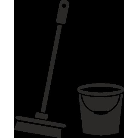 Schoonmaakruimte stickers (zonder achtergrond)