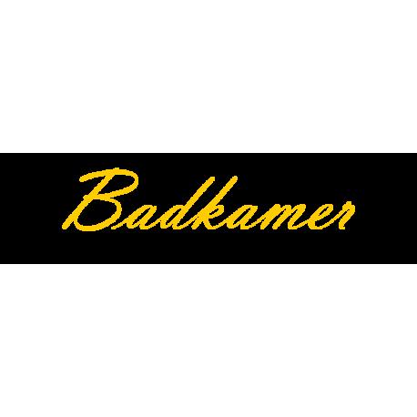 Interieurstickers 'Badkamer'