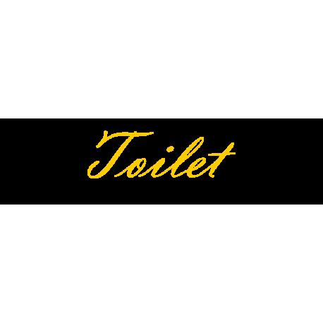 Interieurstickers 'Toilet'