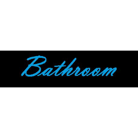 Interieurstickers 'Bathroom'