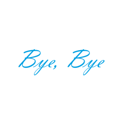 """Interieurstickers """"Bye Bye"""""""