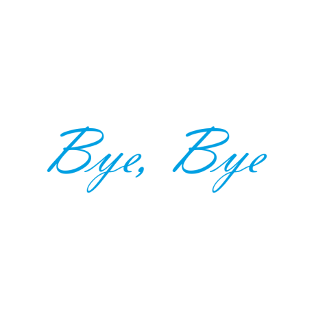 Interieurstickers 'Bye Bye'