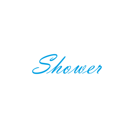 Interieurstickers 'Shower'
