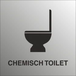 Chemisch toilet bordjes (RVS Look)
