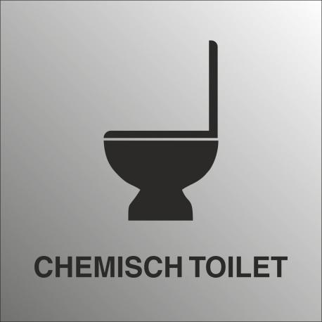 Chemisch toilet bordjes (RVS Look)