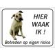 Anatolische Herdershond 'Hier waak ik'-bordje (zwart)