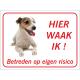 Jack Russell Teriër 'Hier waak ik'-stickers (rood)