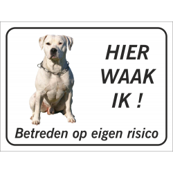 Argentijnse Dog  'Hier waak ik'-stickers (zwart)
