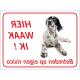 Engelse Setter 'Hier waak ik'-stickers (rood)