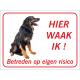 Hovawart 'Hier waak ik'-stickers (rood)