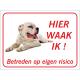 Argentijnse Dog 'Hier waak ik'-stickers (rood)