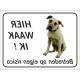 Anatolische Herdershond 'Hier waak ik'-stickers (zwart)