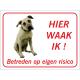 Anatolische Herdershond 'Hier waak ik'-stickers (rood)