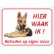 Saarloos Wolfhond 'Hier waak ik'-stickers (rood)