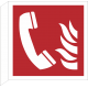 Brandtelefoon bordjes (haaks model)