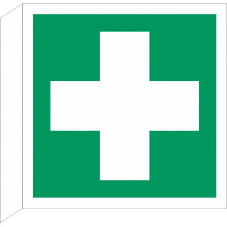 Eerste Hulp bordjes (haaks model)