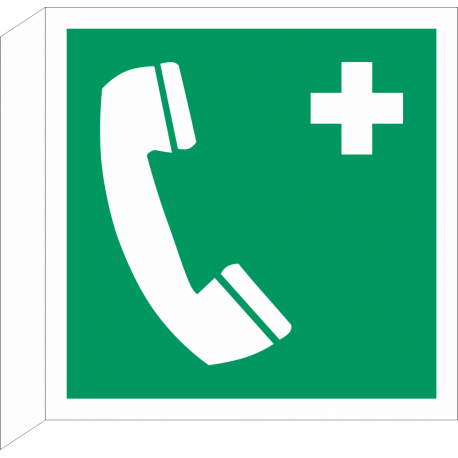 Telefoon voor noodgevallen bordjes (haaks model)