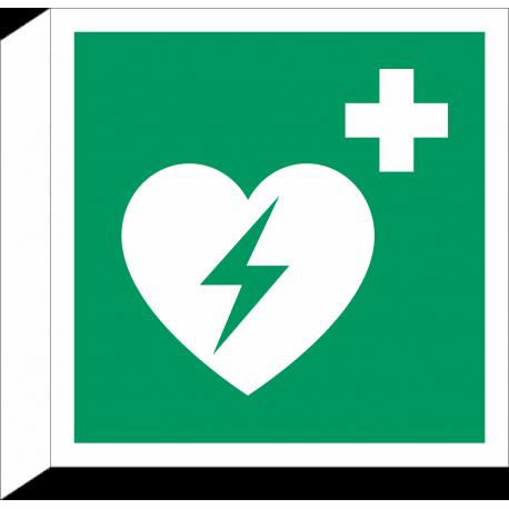 Automatische externe defibrillator bordjes (haaks model)